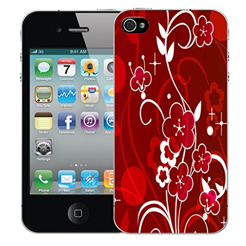 Mobile Case Mate iPhone 5 Silicone Coque couverture case cover Pare-chocs + STYLET - Blushing Floral pattern (SILICON)