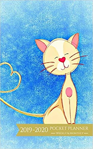 Best Seller List 2020 2019 2020 Pocket Planner Weekly and Monthly: Cute Cat Calendar for