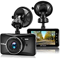 OldShark Car Dash Cam 3.0 LCD FHD 1080p 170 Degree Wide Angle with G-Sensor, WDR, Loop Recording, Parking Guard GS505 Dashboard Camera Recorder