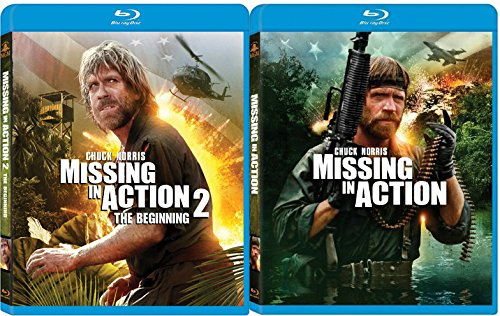 Missing in Action Combo Set (Blu-ray + DVD) Chuck Norris Missing in Action 1 & 2 The Beginning movie set
