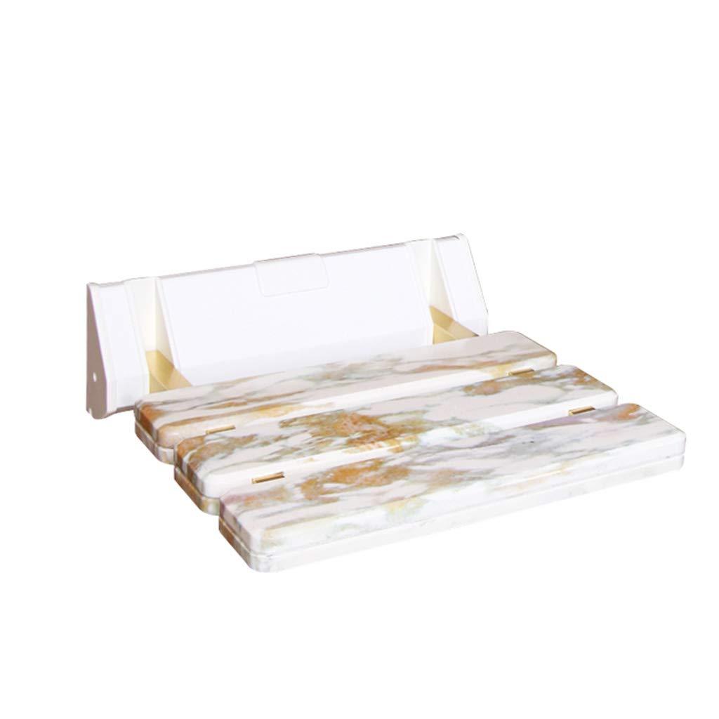 TLMY Marble Non-Slip Bathroom Folding Chair Bath Stool Bathroom Shower Stool Folding Stool Bathroom Change Shoe Bench Shower Chair