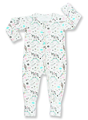 Silkberry Baby Unisex-Baby Organic Cotton Footie Sleeper