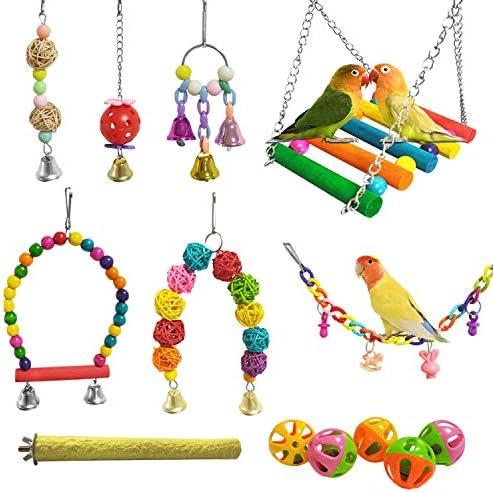 E-KOMG 13 Packs Bird Swing Toys,Parrot C