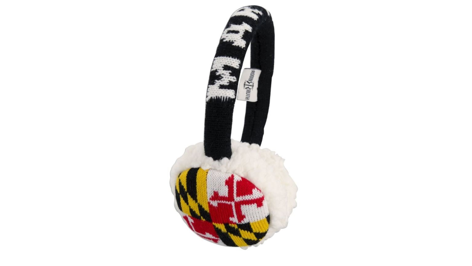 Maryland Flag Warm Womens Adult Ear Muffs (One Size Fits Most)