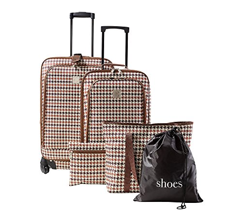 Travel Quarters 5-pc. Houndstooth Luggage Set by Travel Quarters