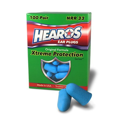 HEAROS XTREME 100 Pair Foam EAR PLUGS With NRR 33 Noise Canceling Hearing Protection by Hearos
