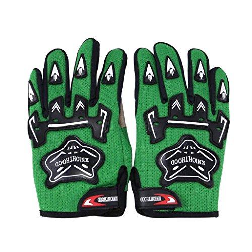 WPHMOTO Kids Full Finger Motorcycle Dirt Bike Riding Cycling Sports Gloves (M, Dark Green)