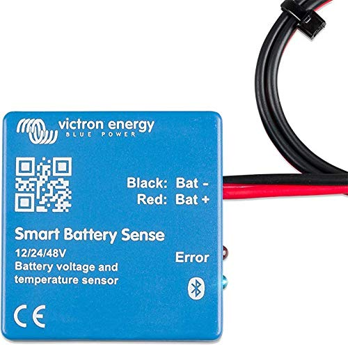 Victron Smart Battery Sense Long Range (up to 10m) - Wireless Battery Voltage/Temperature Sensor for Victron MPPT Solar Chargers. by Victron Energy
