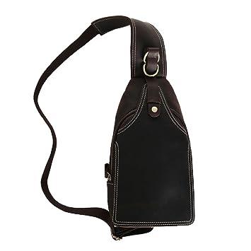 6c11d3c430ce5 Paonies Büffelleder Herren Damen Tascge Umhängetasche Brusttasche Rucksack  für Freizeit Reise Sports