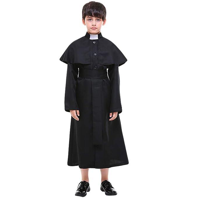 53ed7502d1 Yiiquanan Festa del Giochi Costume di Halloween per Bambini Ragazzi Costumi  di Cosplay di Prete: Amazon.it: Abbigliamento