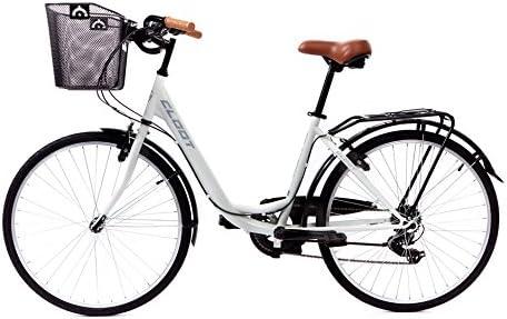 CLOOT Bicis de Paseo Relax Blanca-Bicicleta Paseo con Cambio ...