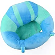 pinnacleT1 Baby Cartoon Animal Plush Sofa Seat Soft Bean Bag Chair Seat Cartoon Kids Chair for Christmas/Children's Day Gift (Blue)