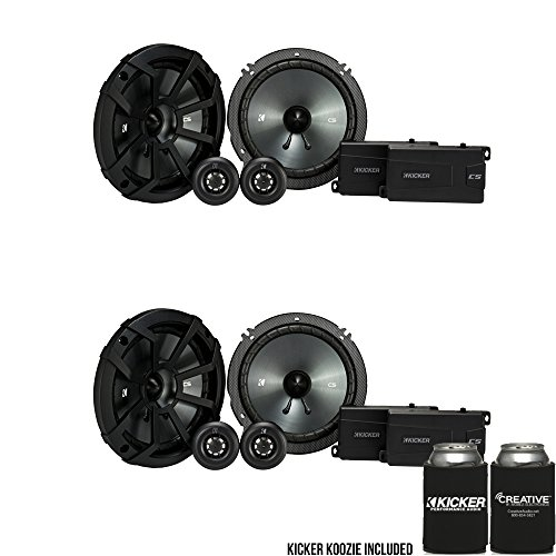 20mm Tweeter - Kicker CSS65 6.5-INCH (160mm) Component System with .75-INCH (20mm) Tweeter, Bundle