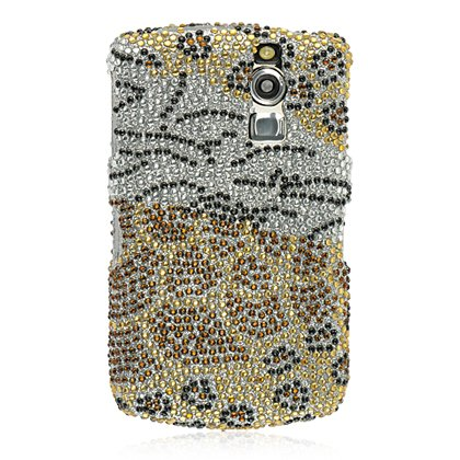 Black Gold Animal Pattern Full Diamond Crystal Snap on Hard Cover Faceplate Case for Blackberry Curve 8300 8310 8330