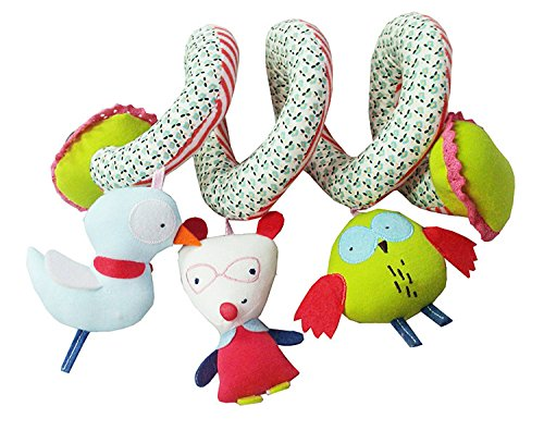 Baby Toys 0-1 Years Old Infant Rattles Plush Doll Toys (Pink) - 4