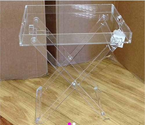 Designstyles Acrylic Decor Fordable Tray Table by Designstyles