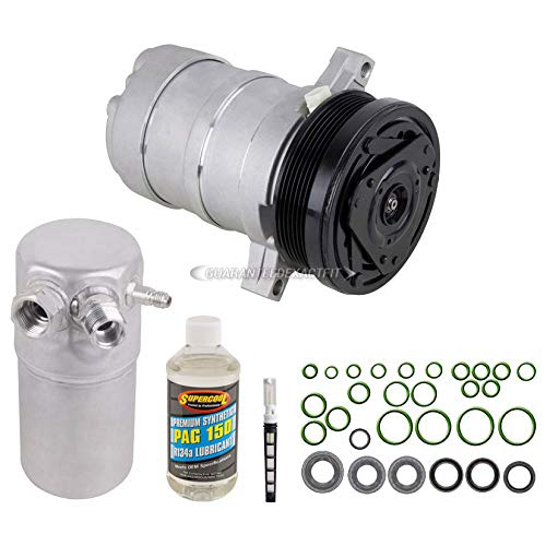 AC Compressor w/A/C Repair Kit For Chevy Caprice Impala Buick Roadmaster Cadillac Fleetwood 1994 1995 1996 - BuyAutoParts 60-80131RK New ()
