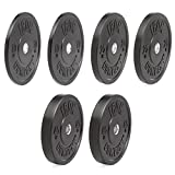 IRON COMPANY Premium Black Virgin Rubber Olympic Bumper Plate 160 lb. Set for Crossfit Workouts and Olympic Weightlifting - IWF Specifications