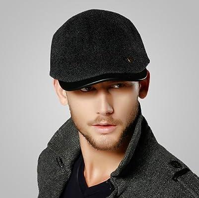男士帽子韓版潮秋冬天毛呢鴨嘴帽英倫鴨舌帽男秋冬季圖片圖片