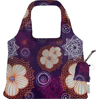 ChicoBag Vita Purple Blooms Collection Bag, Flourish