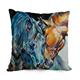 12 x 20 inches / 30 by 50 cm Horse throw cushion covers,each side is fit for wife,husband,home office,kids boys,bedding,gf