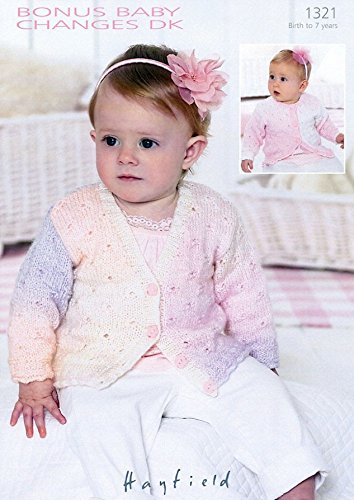 - Hayfield Baby Cardigans Baby Changes Knitting Pattern 1321 DK