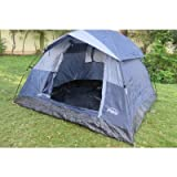 'Amaze' Outdoor Light weight Portable Water proof Picnic Trekking Family Camping Tent Shelter - 3 People Grey