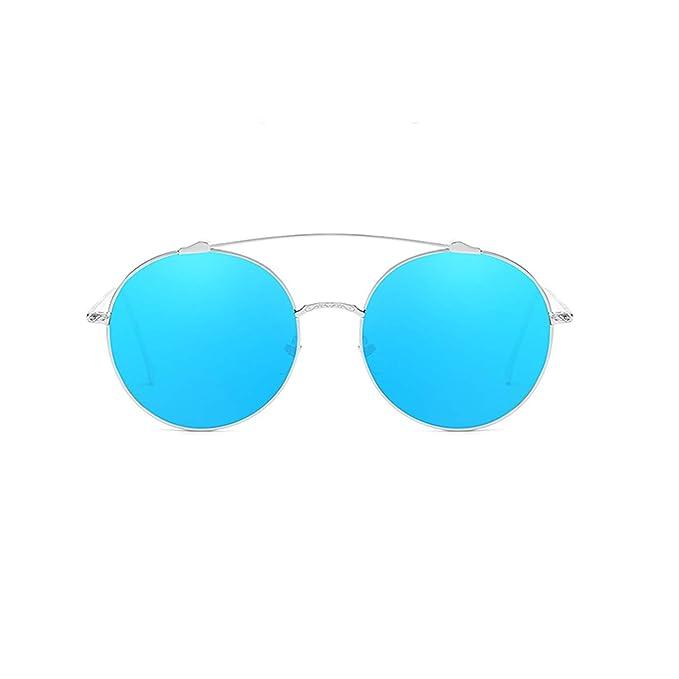 ANAZOZ Gafas de Sol Lente Azul Plata Gafas Sol Mujer UV400 ...