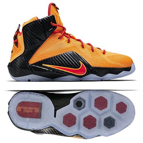 Nike LeBron XII (GS) 685181-830 Laser Orange/Crimson Yout...
