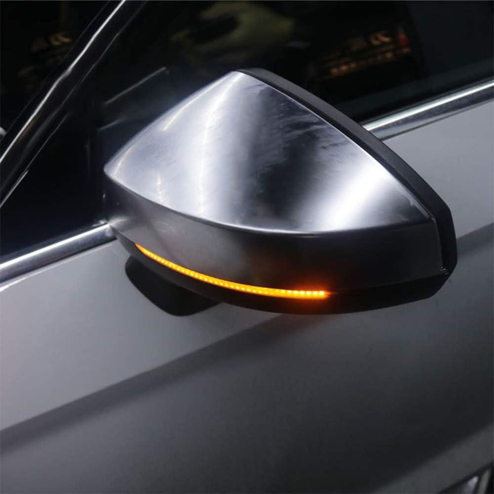 1 Pair Car Rearview Mirror Indicator Lamp Streamer Strip Flowing Turn Signal Lamp Amber LED Car Light Source