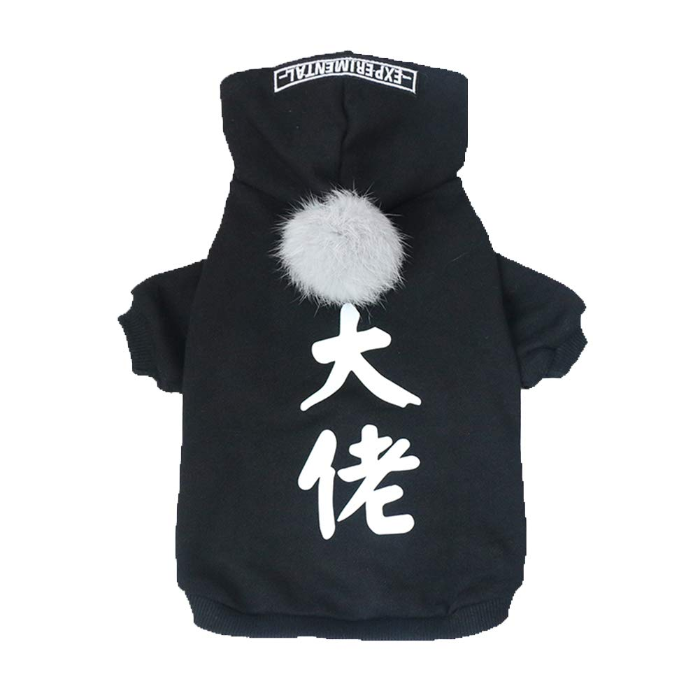Boss 2XL Boss 2XL FENGMING Dog Cat Clothes Dog Clothes Dog Clothes Boy Dog Clothes Girl Kitten Clothes Pet Apparel Thick Warm Hooded Sweater Large And Medium CHONGWUYIFU (color   Boss, Size   2XL)