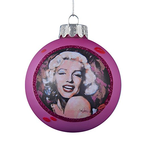 Kurt Adler Marilyn Monroe Glass Ball Ornament, 80mm, - Hollywood Glasses Actress With