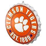 FOCO NCAA Bottle Cap Wall Sign, Clemson Tigers