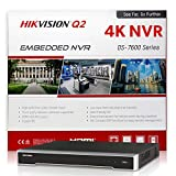 HIKVISION DS-7616NI-Q2/16P 16CH PoE NVR Network Video Recorder w/ No Hard Drive, Embedded Plug and Play, Up to 8MP (4K) Resolution, H.265+, Onvif Compatible Hikvision IP Camera System