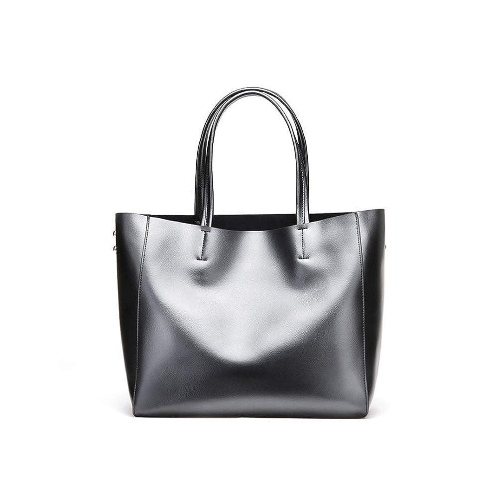 Lozoco Womens Genuine Leather Fashion Tote Bag Large Size Shopping Bag Shoulder Bag 8 Color