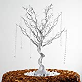 "BalsaCircle 30"" Manzanita Tree with Garlands for Wedding Centerpieces - Silver"