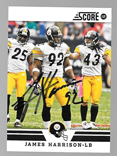 James Harrison Pittsburgh Steelers Autographed Signed 2012 Panini card -- COA - (Near Mint Condition)5
