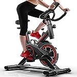 51n6IYD9THL. SS150 LSYOA Magnetico Fitness Bike Cyclette, Interno Verticale Spin Bike con Display LCD Regolabile Braccioli e Resistenza Attrezzo Sportivo,Black