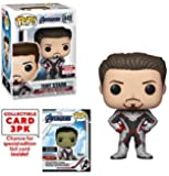 Pop Funko Marvel: Avengers Endgame - Tony Stark Iron Man Edición Especial Exclusiva Entertainment Earth con Paquete de Cartas Coleccionables