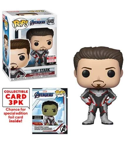 Entertainment Earth Exclusive Marvel Avengers Funko Pop Endgame Tony Stark Vinyl Figure with Collector Cards