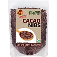 Cacao Nibs Organic Raw Superfood by SOW+BLOOM – Sugar Free, Gluten Free, Non GMO - 1 lb (16 oz) , Not COCOA Nibs