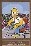Simpsons Homer Pride Cartoon Comedy Animated Series Poster Print 24x36