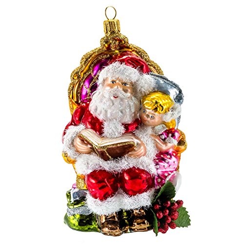 Radko Presents - Miss Christmas 2017 Clearance Collection, Santa's Stories Christmas Ornament
