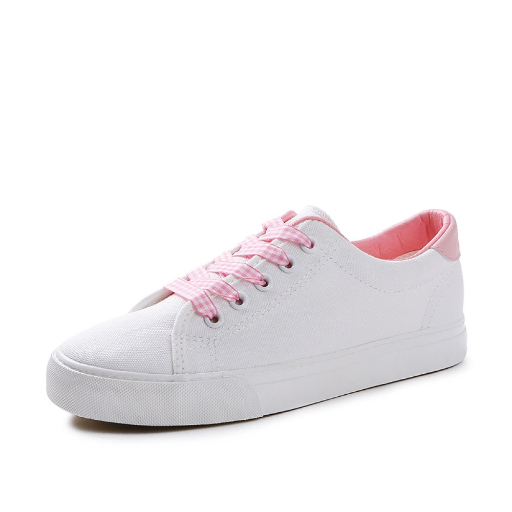 Koyi Top Femmes Chaussures Chaussures Nouveaux Girls étudiants Chaussures Blanc Chaussures Espadrilles Sneakers Low Top Flat Casual Girls Chaussures Pink 44ae12c - reprogrammed.space