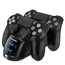 DOBE PS4 Controller Charger, DOBE Playstation 4 Controller Charging Dock Station, PS4 Dual Charger for Dualck Shock 4 Controller