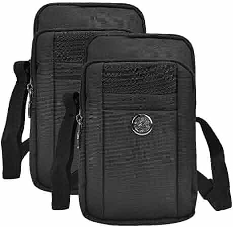 2217de87c1 Bundle (2 pcs)  Sports Travel EDC Tactical Pouch (Black) with Detachable