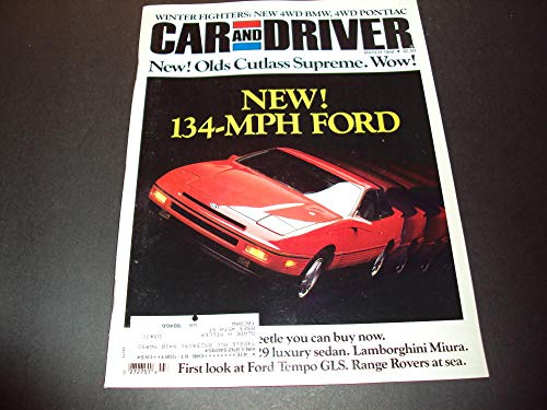 (Car And Driver Mar 1988 Olds Cutlass Supreme, Range Rovers )