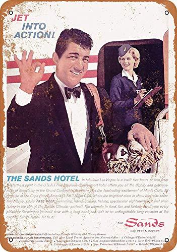 TTDECK Metal Sign 1962 Dean Martin for The Sands Hotel Las Vegas 8