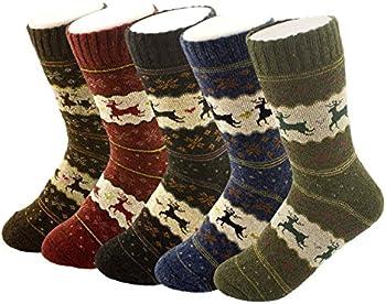 5-Pk. YSense Womens Thick Knit Warm Casual Winter Socks