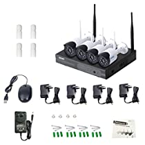 Dovewill ESCAM WNK404 4CH 720P WiFi NVR IP Camera Network Vedio Recorders IR US Plug